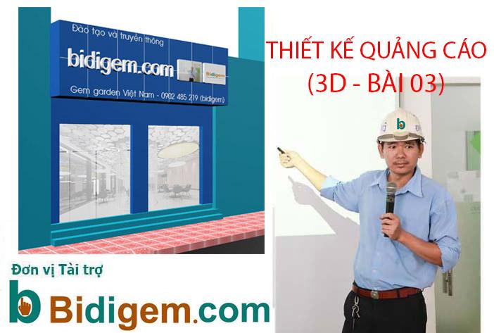 THIET KE 3D MAX BANG HIEU 3D QUANG CAO  BAI 3